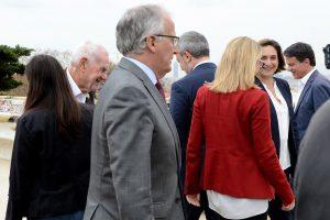 Rodatge, al Parc Güell, del programa especial de TV3 amb els candidats a l'alcaldia, el passat mes de maig. Fotografia de Xavier Jubierre