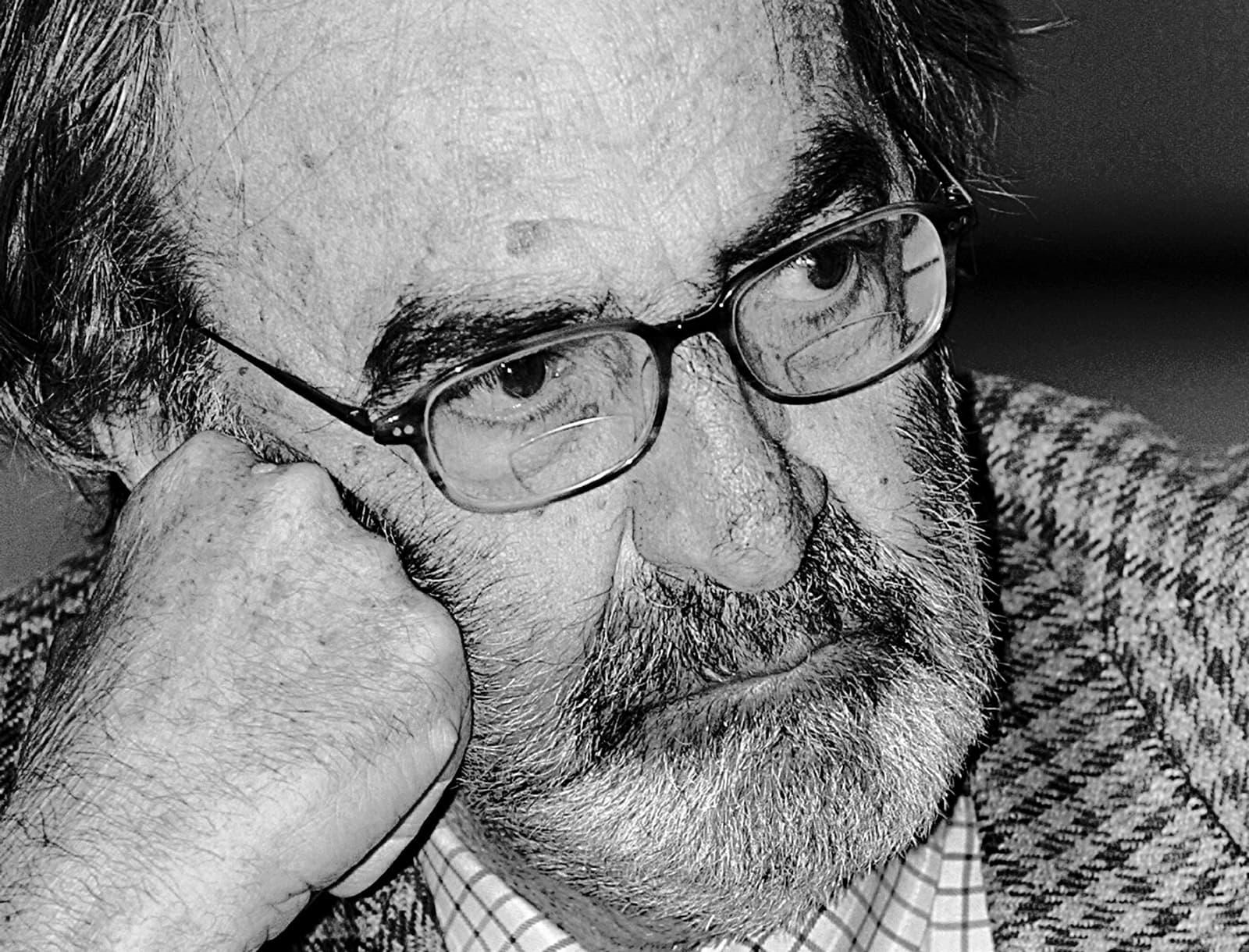 Javier Pradera el 2005 durant la presentació d'un llibre a Madrid. Bernardo Rodríguez/Efe.