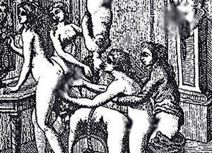Imatge censurada de Justine o els infortunis de la virtut del Marqués de Sade.
