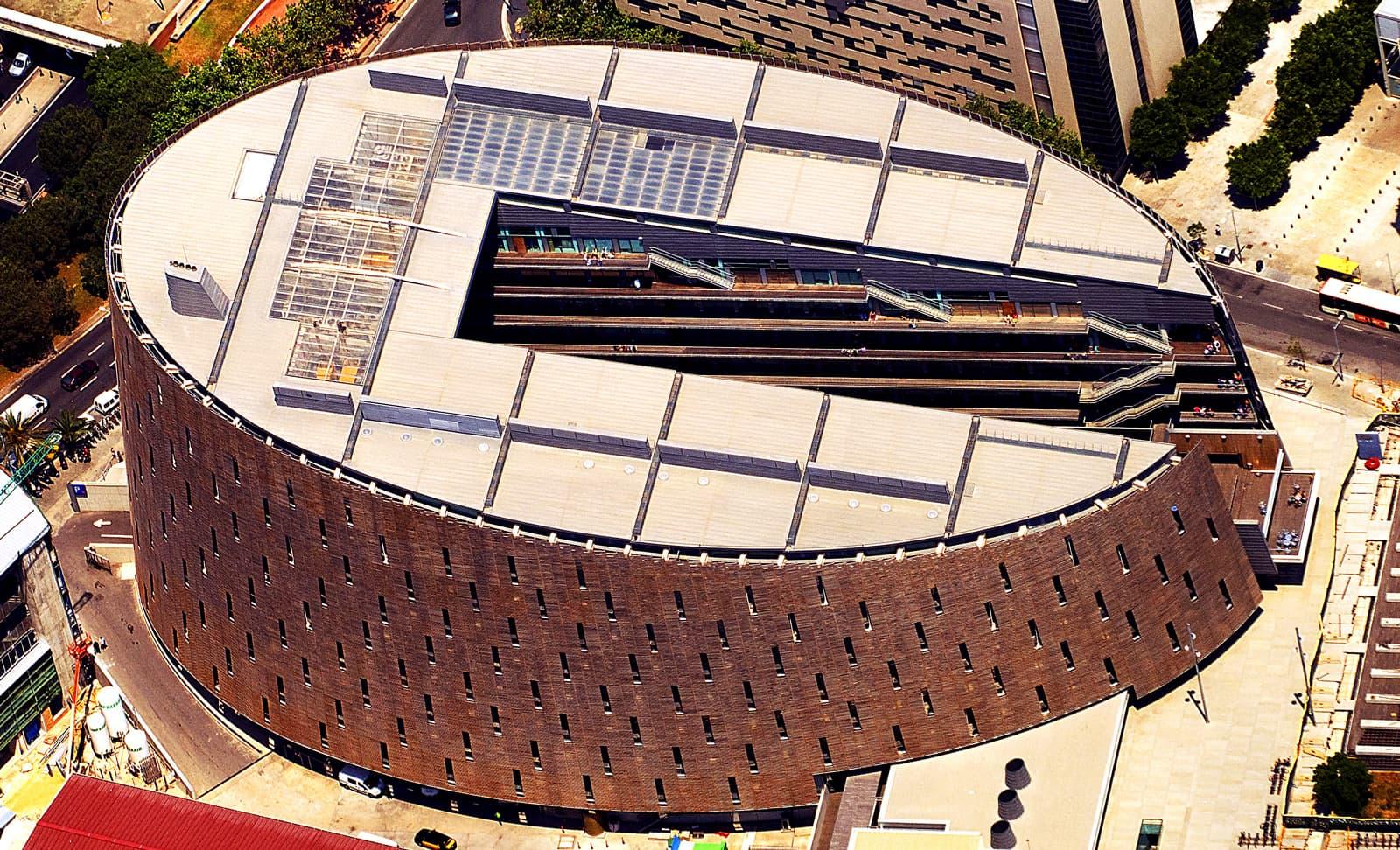 Vista aèria del Parc de Recerca Biomèdica de Barcelona. Fotografia de Xavier Jubierre