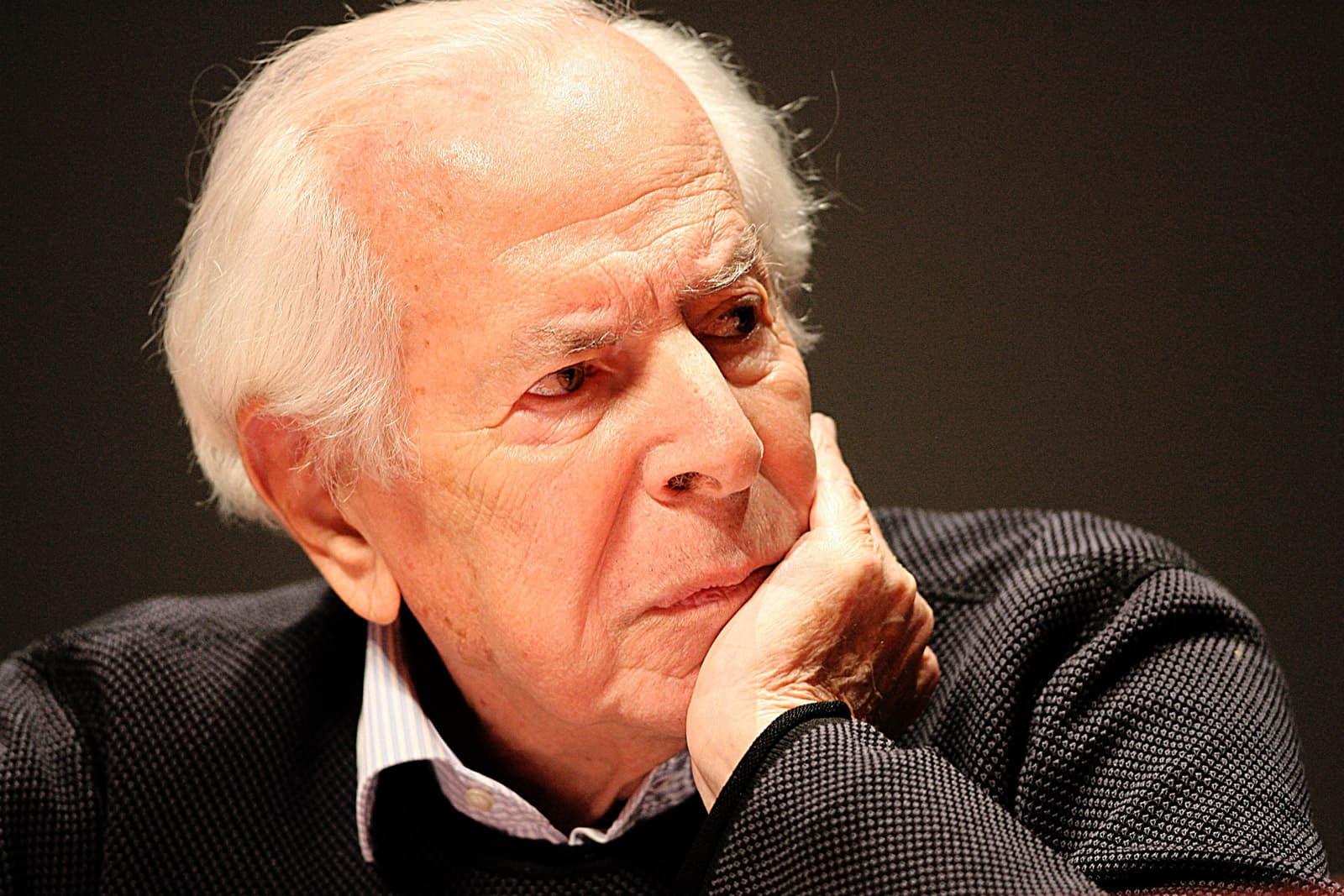 Jean Daniel, director del Nouvel Observateur, a Rennes el 2009. Fotografia de Thomas Bregardis/ Photopqr/Ouest France