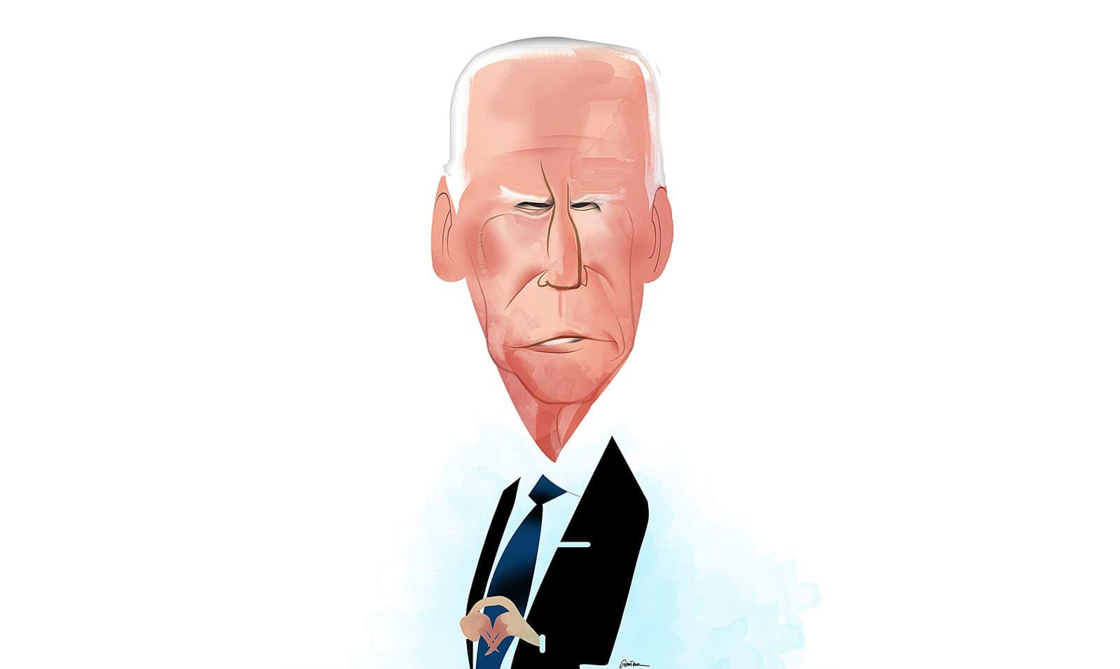Caricatura de Joe Biden per Luís Grañena