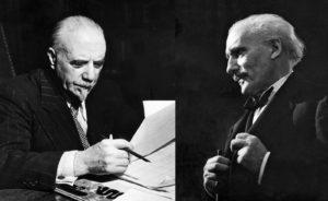 Thomas Beecham i Arturo Toscanini. Fotografies de l'Enciclopèdia Britànica.