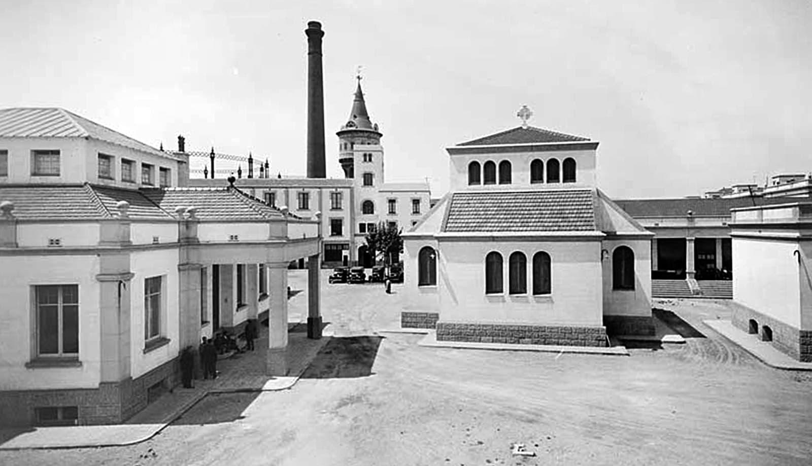 Els diferents pavellons de l'hospital el 1932.