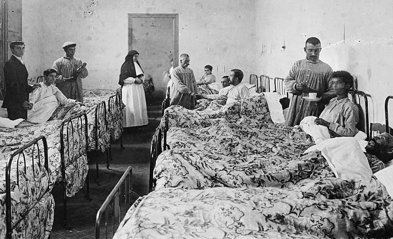 Sala d'homes el 1914.