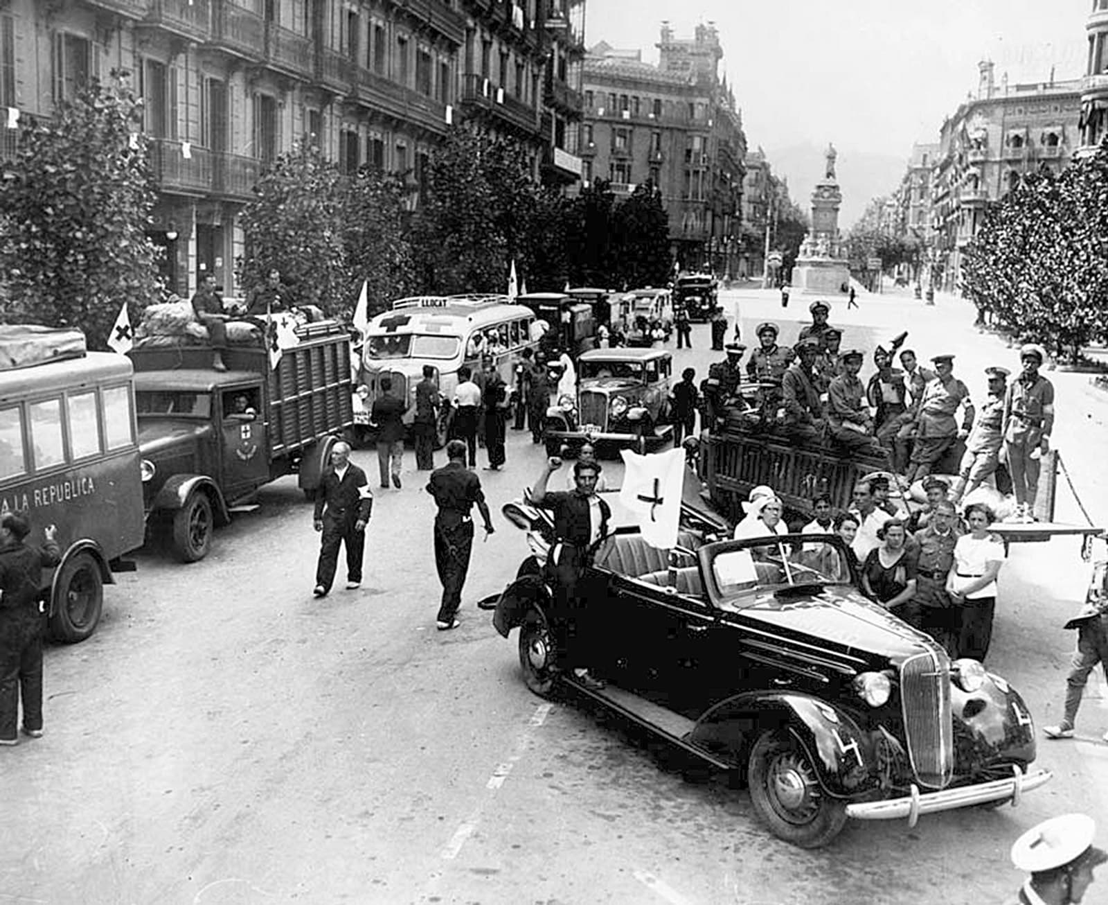 Serveis sanitaris que marxen a la guerra, 1936.