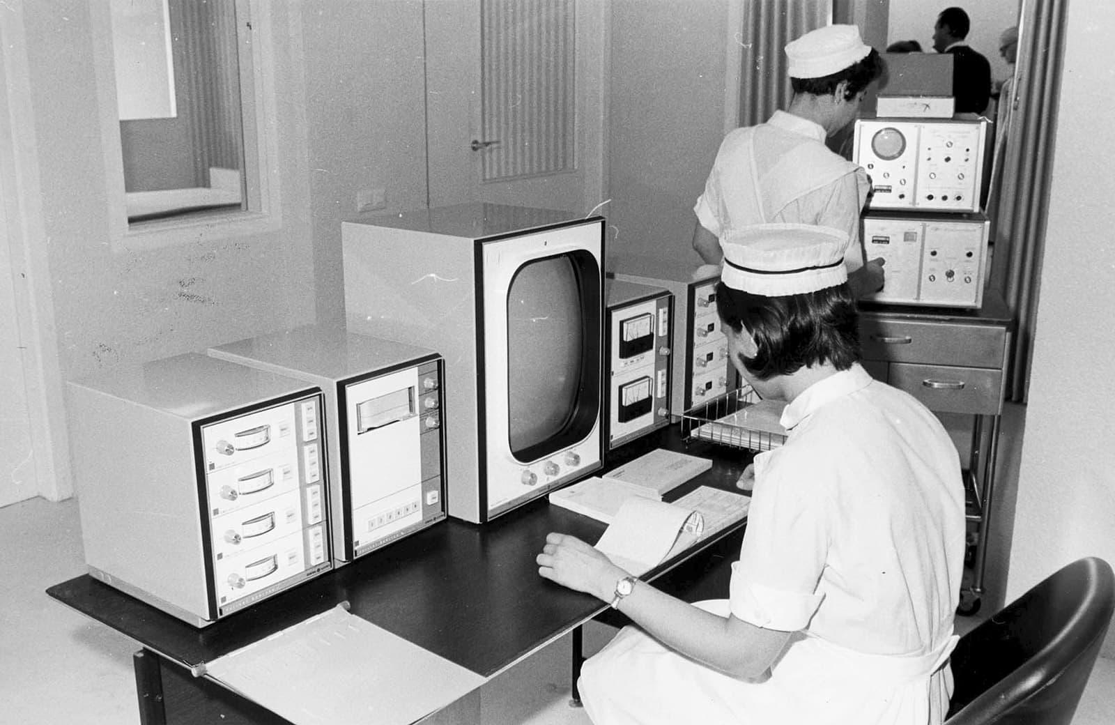 Instal·lacions de l'hospital el 1969.