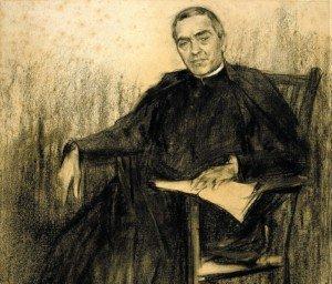 Jacint Verdaguer retratat per Ramon Casas.