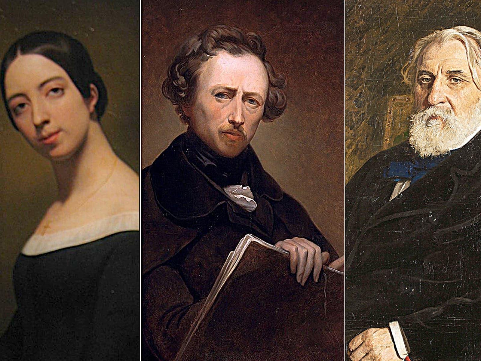 Pauline Viardot, Louis Viardot i Ivan Turguénev.