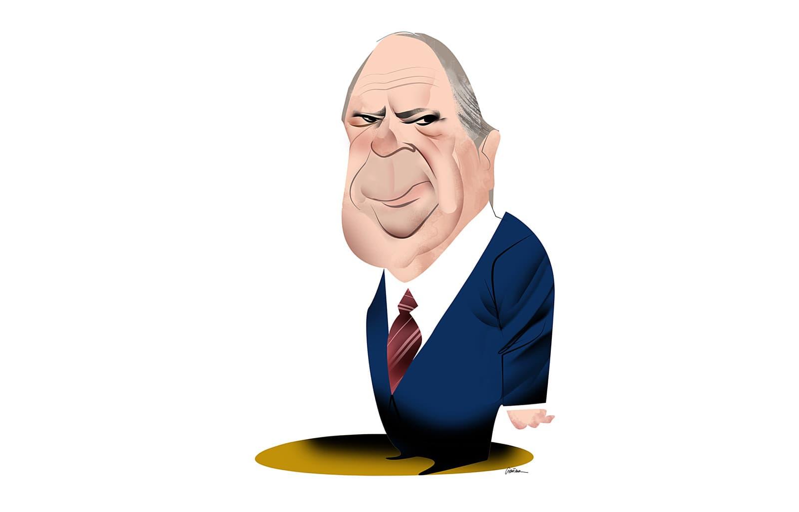 Lluís Prenafeta. Caricatura de Luis Grañena.