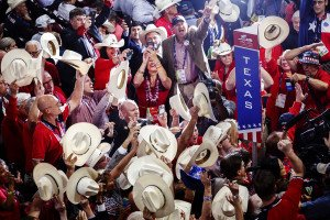 Delegats republicans a la convenció del partit el 2016. Fotografia de Patrick Fallon. Zuma Wire.
