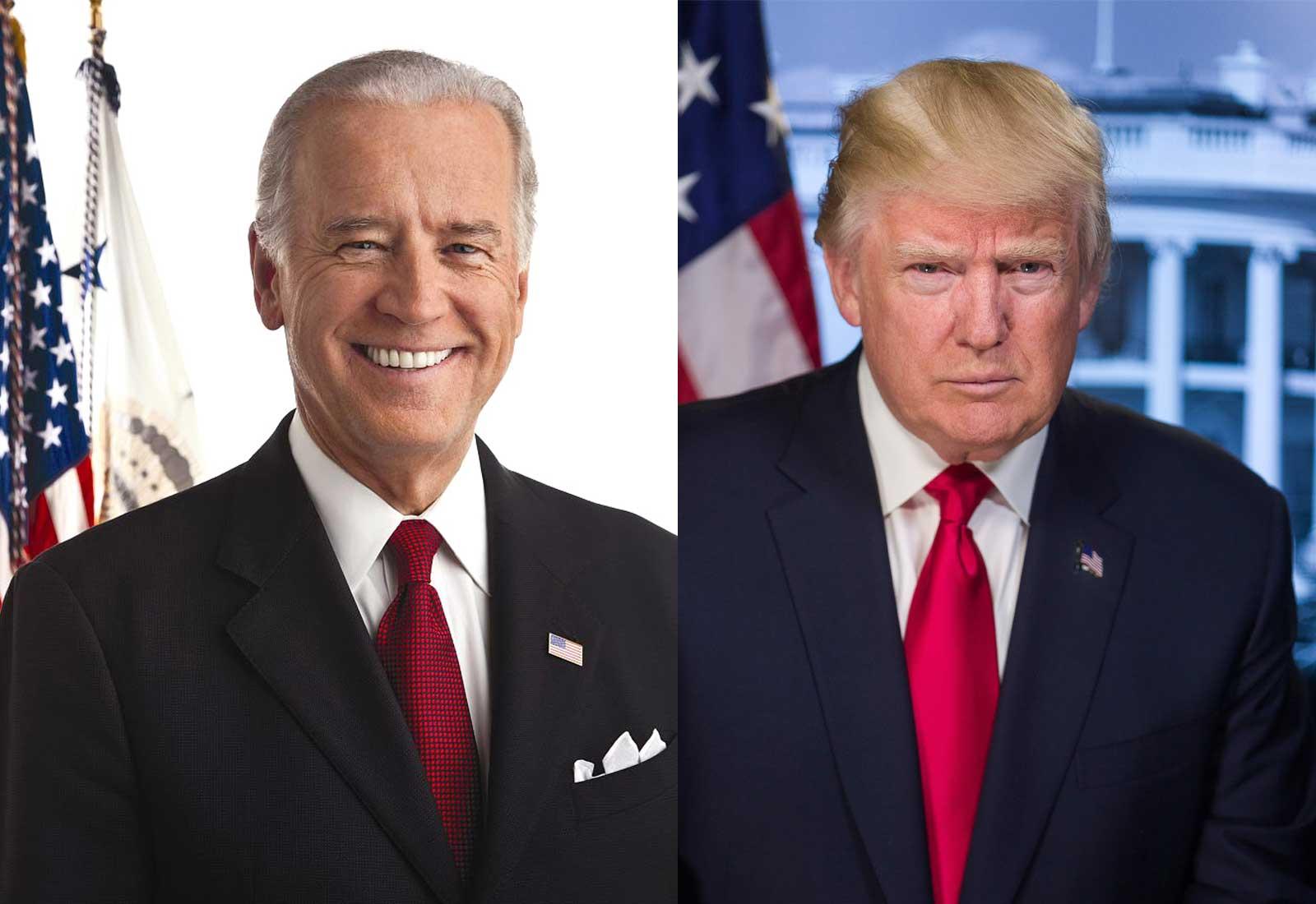 Donald Trump i Joseph Biden. Fotografies de la Biblioteca del Congrés dels EUA i d'Andrew Andy Cutraro.