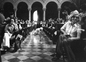Jornades Catalanes de la dona, 1976, al Paranimf de la Universitat de Barcelona. Fotografia de Pilar Aymerich.