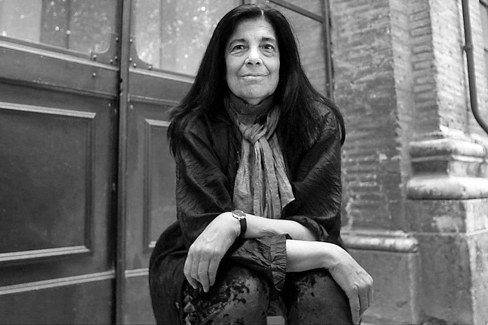 Susan Sontag retratada a Roma el 2003. Fotografia de Cristiano Laruffa. La Presse. Angel.