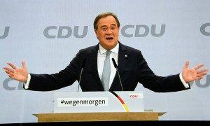 El nou president de la CDU, Armin Laschet, al congrés del partit, el 16 de gener del 2021. Fotografia de Sepp Spiegl. Imago Images.