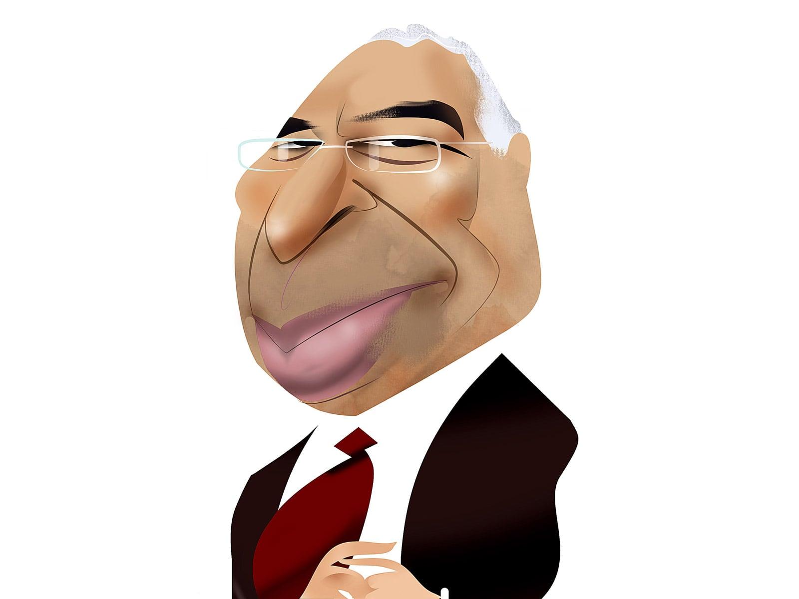 António Costa. Caricatura de Luis Grañena.