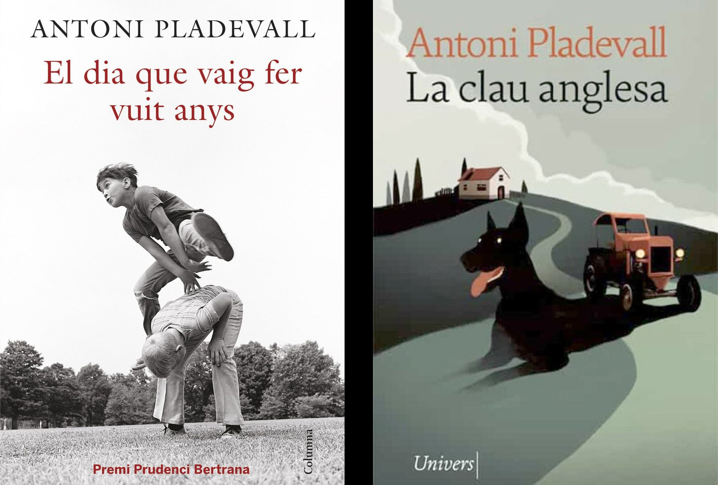 Els llibres d'Antoni Pladevall El dia que vaig fer vuit anys i La clau anglesa.