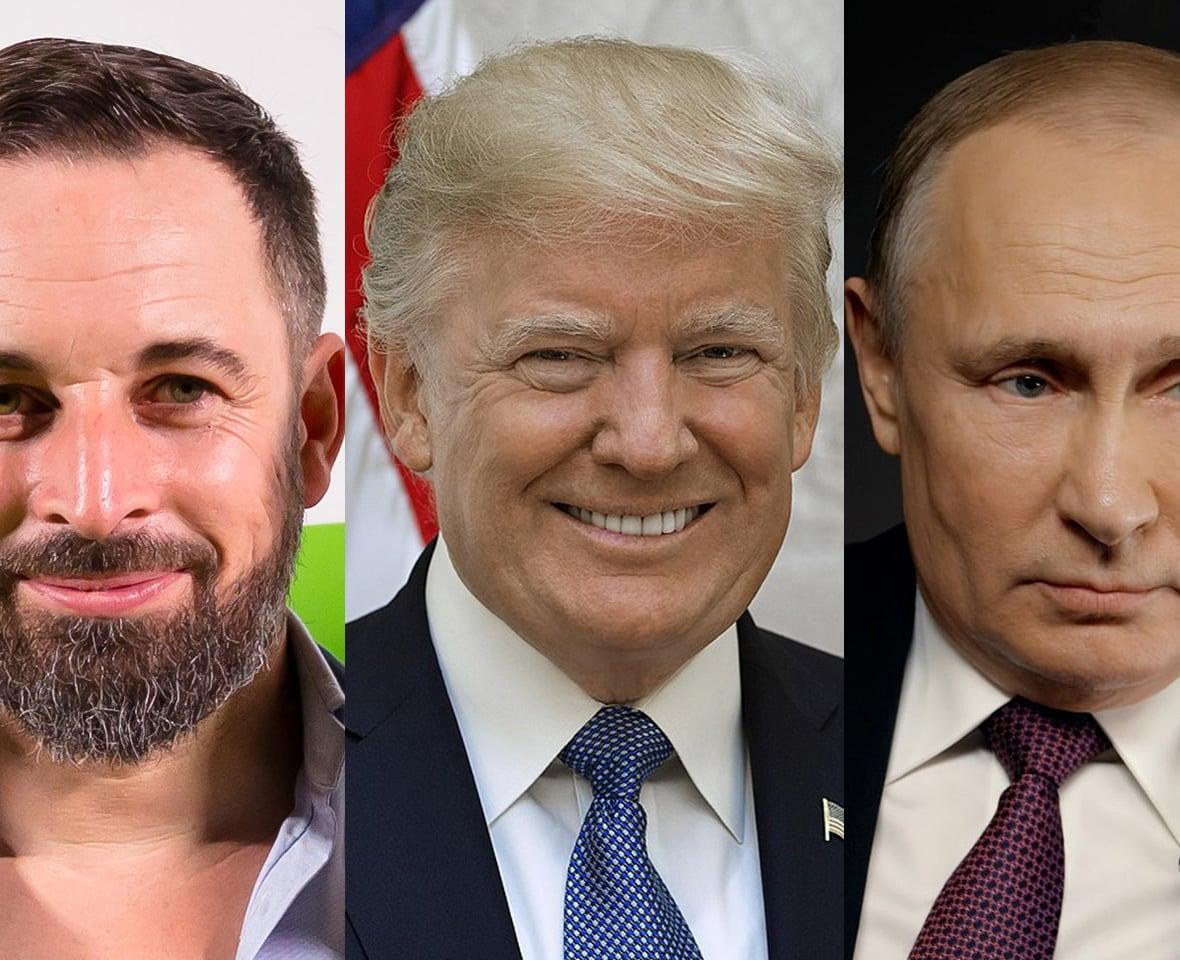 Santiago Abascal, Donald Trump, Vladimir Putin