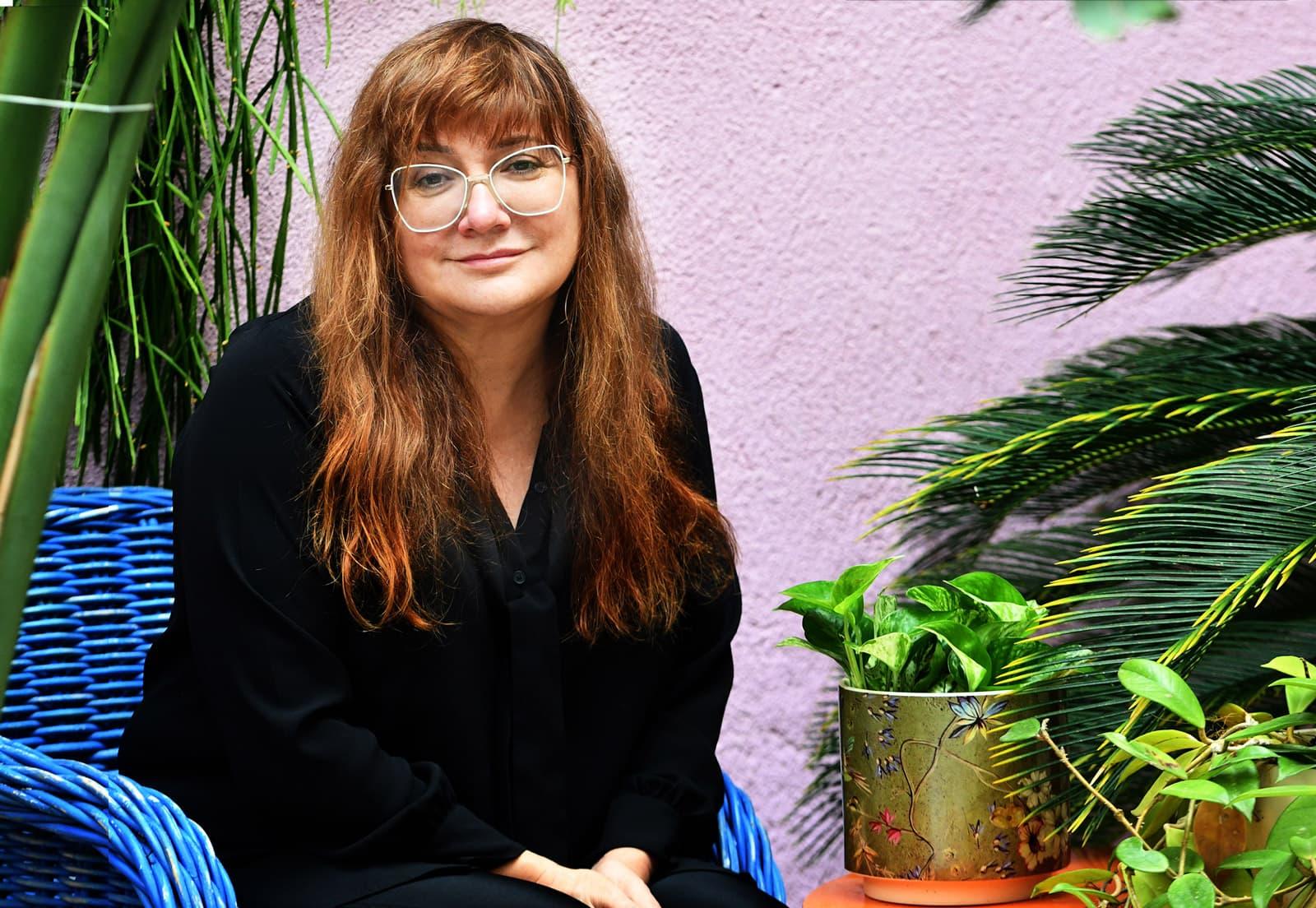 Isabel Coixet al seu estudi de Barcelona, el 12 de novembre del 2020. Fotografia de Xavier Jubierre.