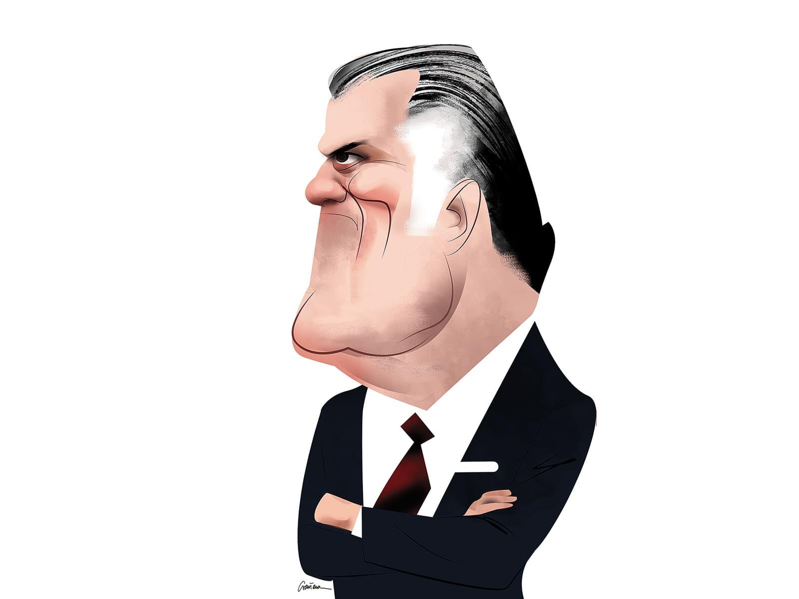 Luis Barcenas. Caricatura de Luis Grañena.