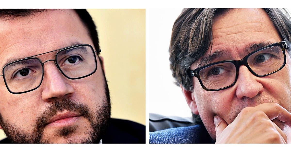 Pere Aragonès i Salvador Illa. Fotografies de Xavier Jubierre.