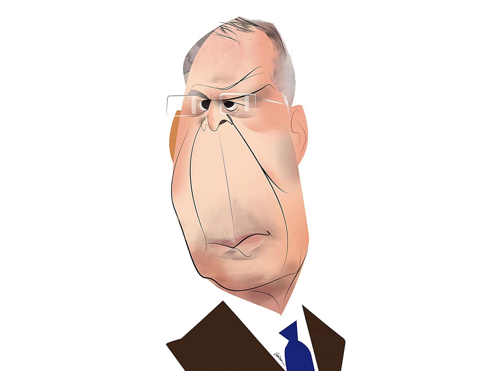 Serguei Lavrov. Caricatura de Luis Grañena.