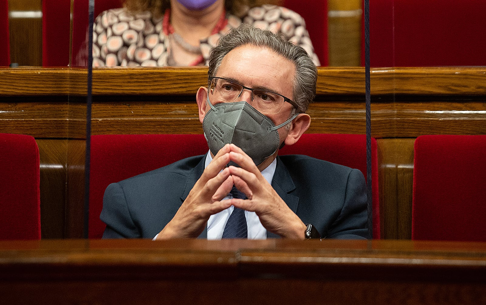 El nou conseller d'Economia de la Generalitat de Catalunya, Jaume Giró, el 2 de juny al Parlament. Fotografia de David Zorrakino. Europa Press. Getty Images.