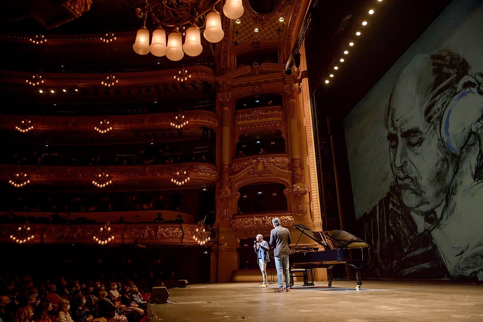 Acte de presentació de la temporada 2021-22 del Liceu, el 12 de maig. Fotografia de A. Bofill.